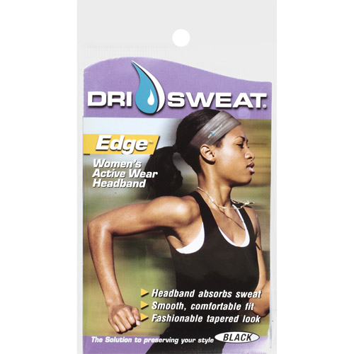 Dri Sweat Edge Women's Active Wear Headband, Black
