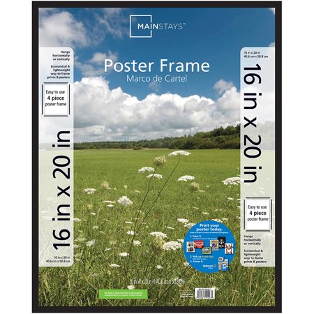 Mainstays 16x20 Basic Poster and Picture Frame, Black Dub Picture Frame Color