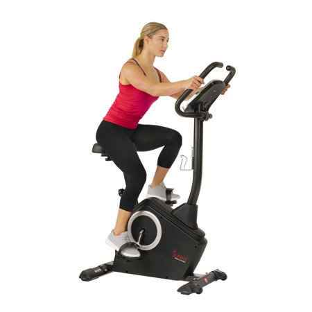 Sunny Health & Fitness SF-B2883 Magnetic Upright Exercise Bike with LCD and Pulse Monitor