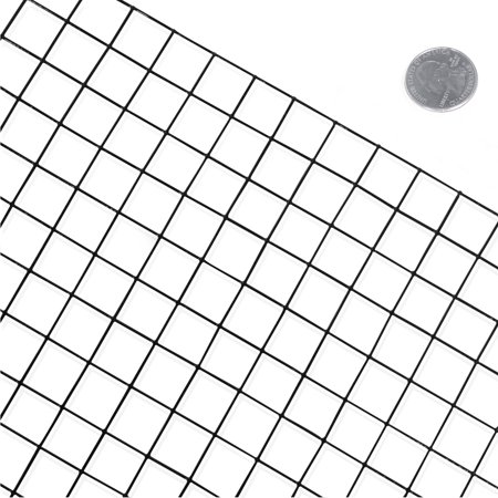 Vinyl Coated Wire Fence (Fencer Wire 16 Gauge Black Vinyl Coated Welded Wire Mesh Size 1 inch by 1 inch (4 ft. x 50 ft.))