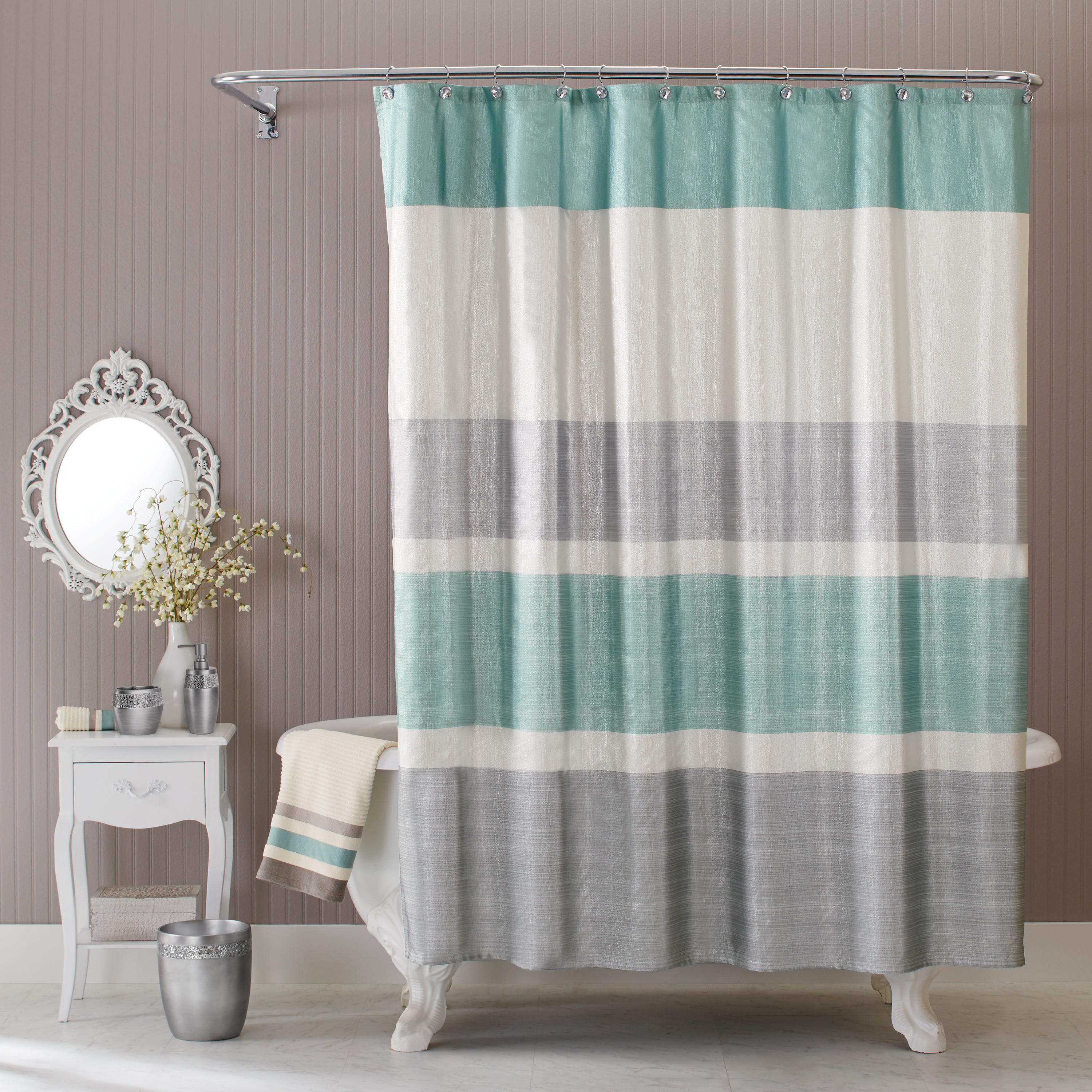 "Better Homes & Gardens Glimmer Shower Curtain 72"" x 72"""