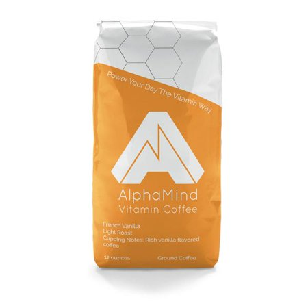 Image of AlphaMind Vitamin Coffee, French Vanilla, Flavored Ground Coffee, 12oz