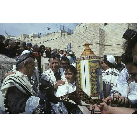 Bar Mitzvah at Wailing Wall, Jerusalem, Israel Print Wall Art](Dance At Bar Mitzvah)