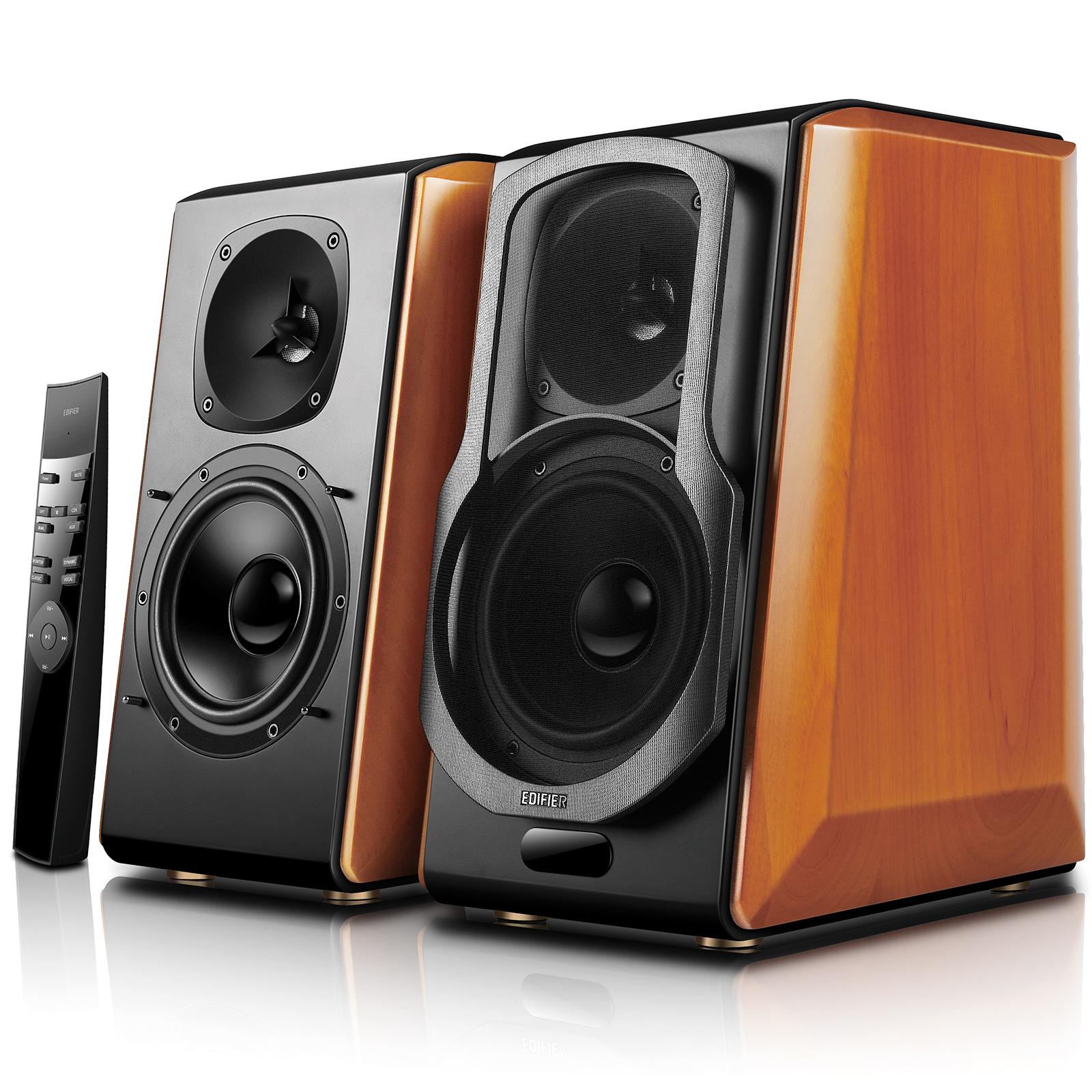 Edifier S2000pro Powered Bluetooth Bookshelf Speakers - Near-Field Active Studio Monitor Speaker with Wireless and Optical Input