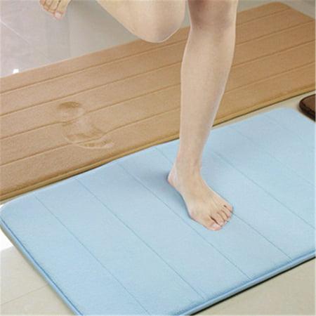 "63""x20"" Long Memory Foam Mat 100% Cashmere Coral Bathroom Bedroom Bath Mat Shower Door Mat  Non-Slip Back"
