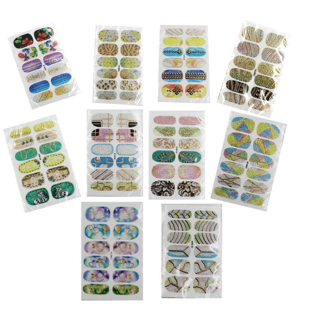 MISSAMMY Transfer DIY Nail Art Stickers Manicure Nail Foil Wrap Decals Pedicure (10 Sheets)