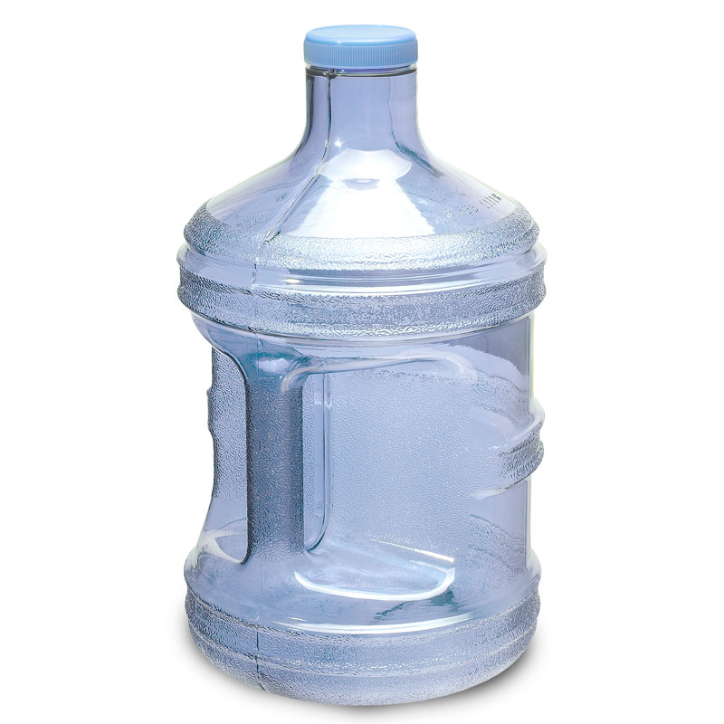 1 Gallon BPA FREE Reusable Plastic Drinking Water Big Mouth Bottle Jug Container with Holder Drinking Canteen - Light Blue