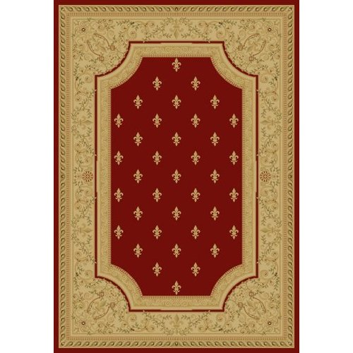 Concord Global Imports Imperial Charlemagne Red Fleur De Lys Area Rug