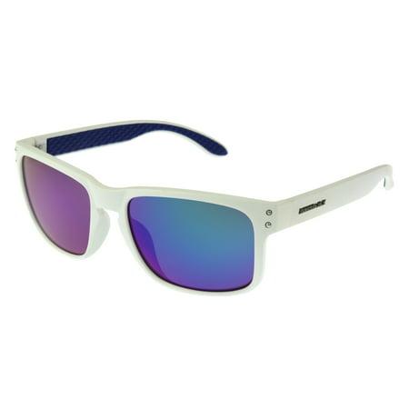 Panama Jack Men's White Mirrored Retro Sunglasses (Jack Sunglasses)