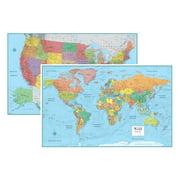 World maps rmc signature united states usa and world wall map set gumiabroncs Images