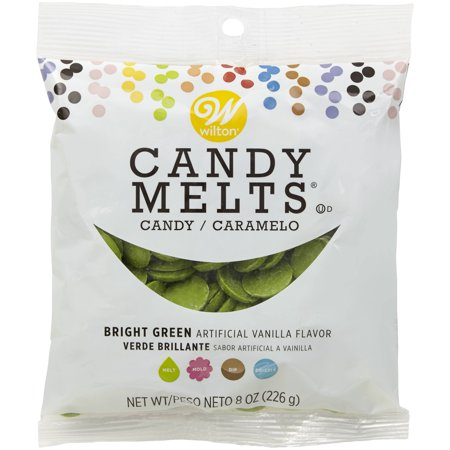 (4 Pack) Wilton Bright Green Candy Melts Candy, 8 oz. - Chocolate Candy Melts