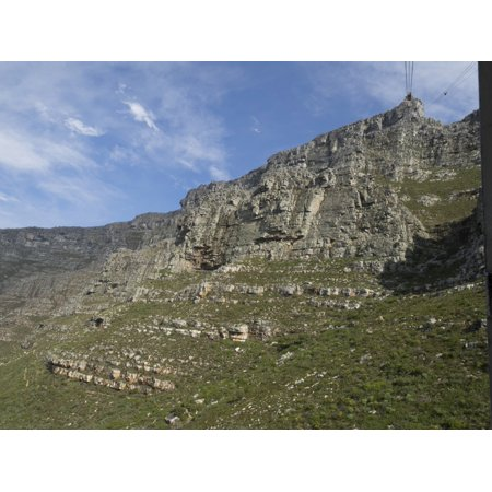 Rock face of Table Mountain National Park seen from gondola car on way to top of mountain Cape Town Western Cape Province South Africa Rolled Canvas Art - Panoramic Images - National Western Stock