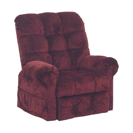 Catnapper Omni 4827 Power Full Lay Out Large Heavy Duty Lift Chair Recliner 450 Lb Capacity   Chianti Red