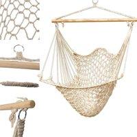 UBesGoo Hanging Swing Cotton Hammock Solid Rope Yard Porch Garden