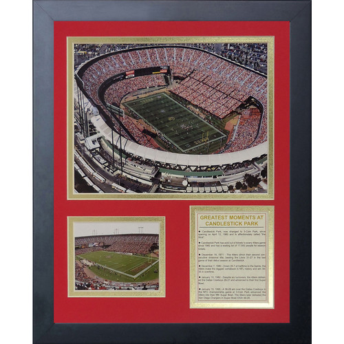 Legends Never Die San Francisco 49ers Candlestick Park Framed Memorabili