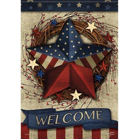- Carson House Flag - Welcome Patriotic Barn Star