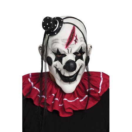 Horror Clown Adult Mask - It Clown Halloween Mask