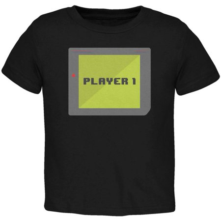Halloween Old School Gamer Player 1 Toddler T Shirt