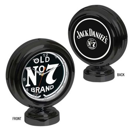 Jack Daniel's Clock Tabletop Neon Old No. 7 logos Quartz Time Piece JD-36602