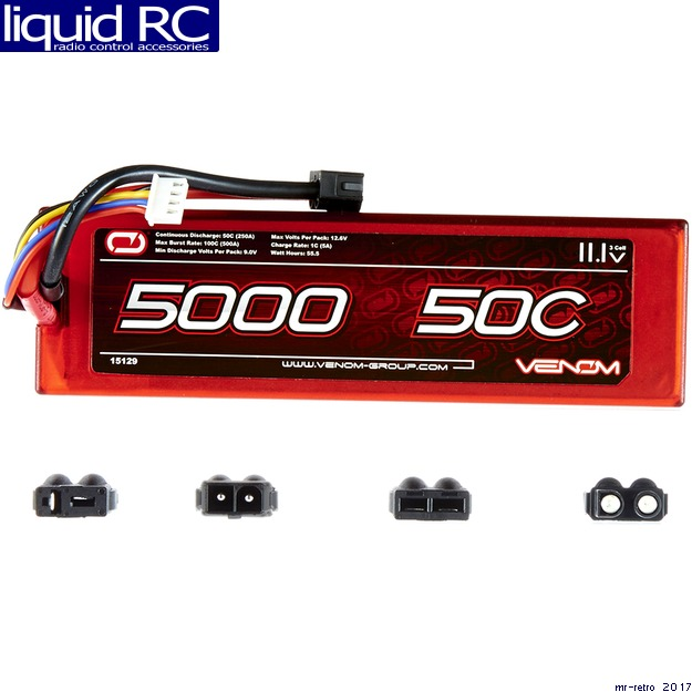 Venom 50C 3S 11.1V 5000mAh LiPO Hardcase Flat Pack Battery with UNI Plug