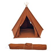 Trademark Innovations 6 ft. Canvas TeePee with Carry Case