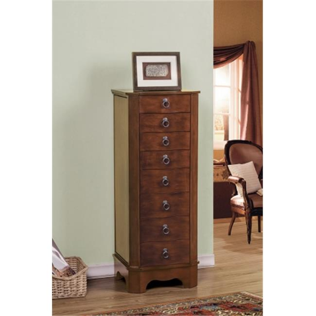 CTE Trading SW1149A-COF 7 Drawer Jewelry Armoire With Lock - Coffee
