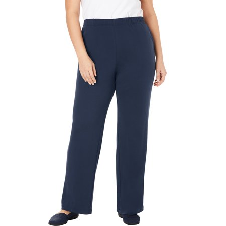 Woman Within Plus Size Petite 7-day Knit Wide Leg Pant Pants