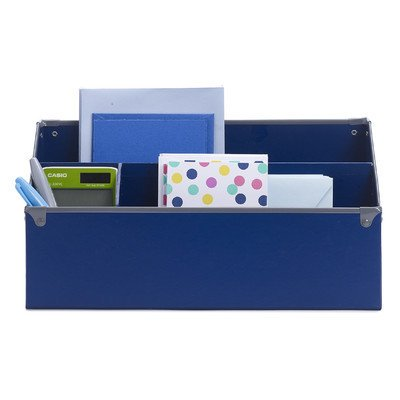Design Ideas Frisco Paperboard Desk Organizer, Navy - Desk Ideas