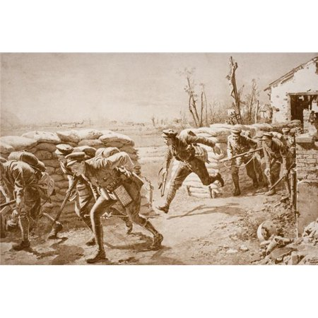 Posterazzi DPI1856778 British Troops Taking A Chance & Making A Dash for It Crossing Space Controlled by Enemy Fire Poster Print, 18 x 12 - image 1 de 1