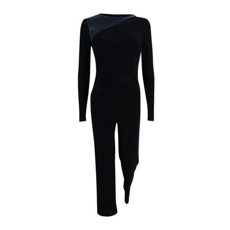 Lauren by Ralph Lauren Women s Paneled Jersey Wide-Leg Jumpsuit ... b509e3ea7