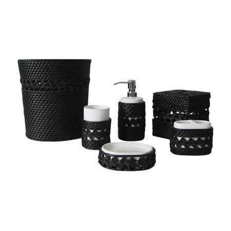Elegant home fashions neligh 6pc bathroom accessory set for Elegant bathroom accessories
