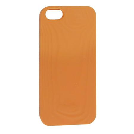 Unique Bargains Unique Bargains Orange Soft Plastic Patterned Back Case Shield Protector for Apple iPhone 5