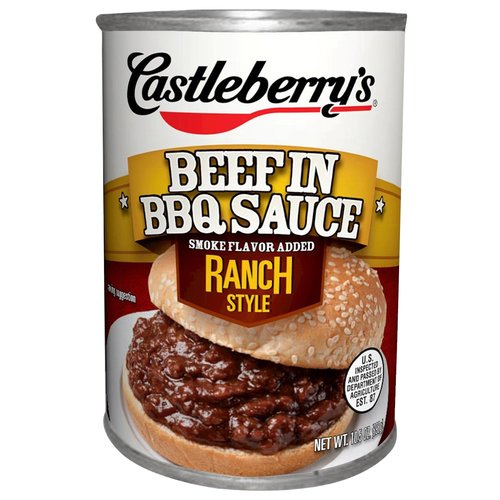 Castleberry's Beef in BBQ Sauce Ranch Style, 10.5 oz