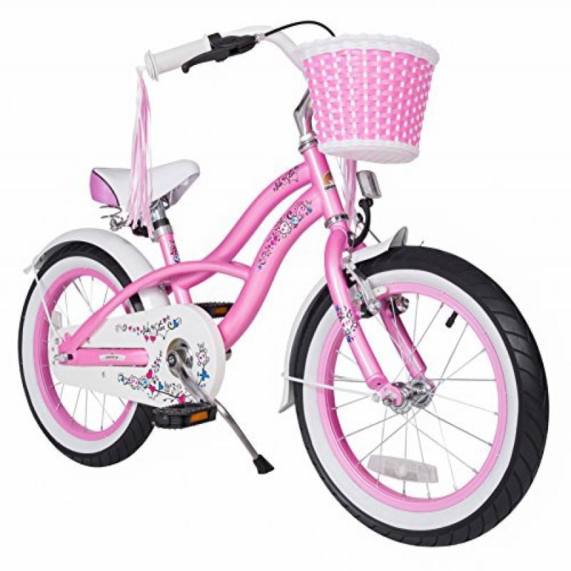 Bikestar 16 Inch (40.6cm) Kids Children Bike Bicycle Cruiser Pink by Star Trademarks