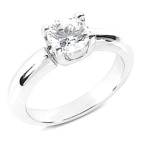 Harry Chad HC10759-3.5 0.75 CT Diamond Solitaire Ring Gold Jewelry - Color F - VS1 Clarity - image 1 of 1
