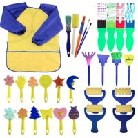 Paint sponges For 2019 hotsales kids 29pcs Of Fun Paint Brushes For Toddlers