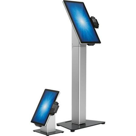 Elo Slim Floor Mount for Touchscreen Monitor, Cradle, Bar Code Reader, Fingerprint Reader, Webcam - Black, Silver - 22