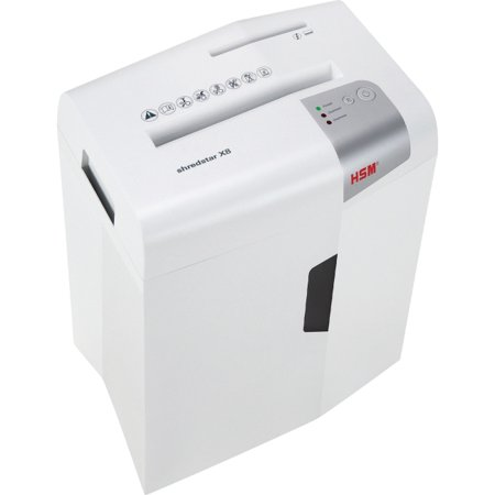 HSM Shredstar X8 Cross-Cut Shredder - Non-continuous Shredder - Cross Cut - 8 Per Pass - for shredding Paper, Paper Clip, Credit Card, CD, DVD - 0.16
