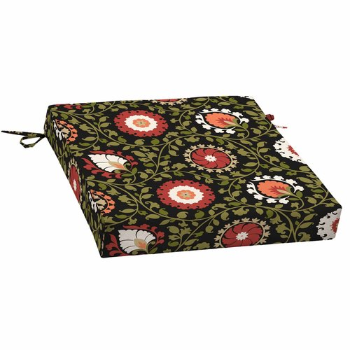Better Homes and Gardens Outdoor Patio Dining Seat Cushion, Serrano Suzani