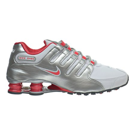 743ff4f707c Nike - Nike Shox NZ Women s Shoes White Ember Glow Metallic Silver ...