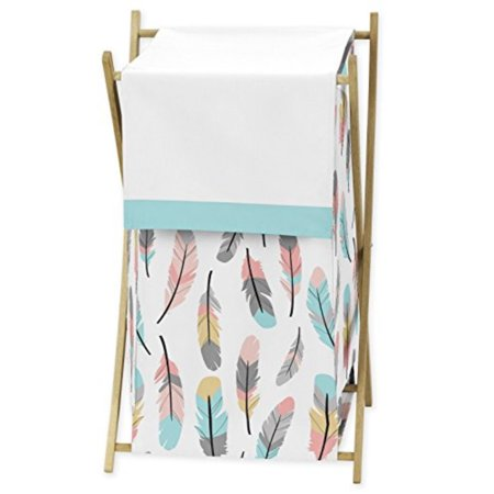 Sweet JoJo Designs Biy Children Kids Clothes Laundry Hamper for Feather Collection Bedding Set