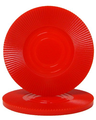 25 Red Interlocking Radial Poker Chips 2 Grams, 2 Grams By Brybelly by