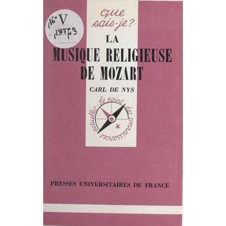 La musique religieuse de Mozart - eBook - Musique De Party D'halloween