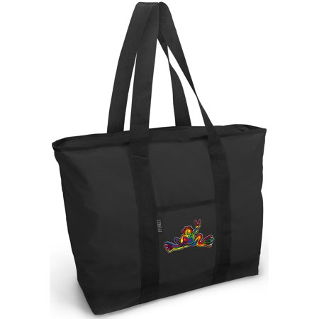 Peace Frogs Tote Bag Deluxe Peace Frogs Tote Bags ()
