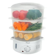 Rosewill Electric Food Steamer 9.5 Quart, Vegetable Steamer and Rice Cooker with BPA Free 3 Tier Stackable Baskets and Egg Holders RHST-15001