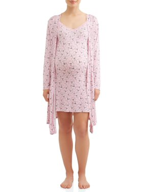 Nice New Stylish Full Length Pink Cotton Maternity Pregnancy Nursing Nightie Size 14 Grade Products According To Quality Women's Clothing