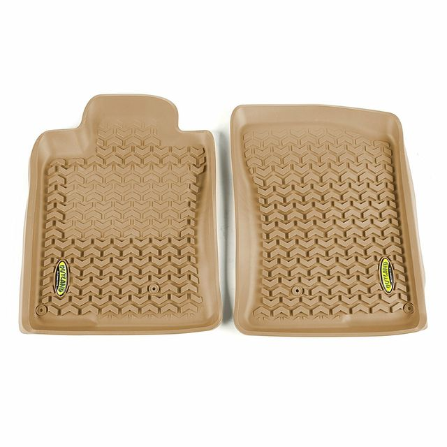 Outland Automotive 398390440 Front Tan Floor Liners for 10-13 Toyota 4Runner