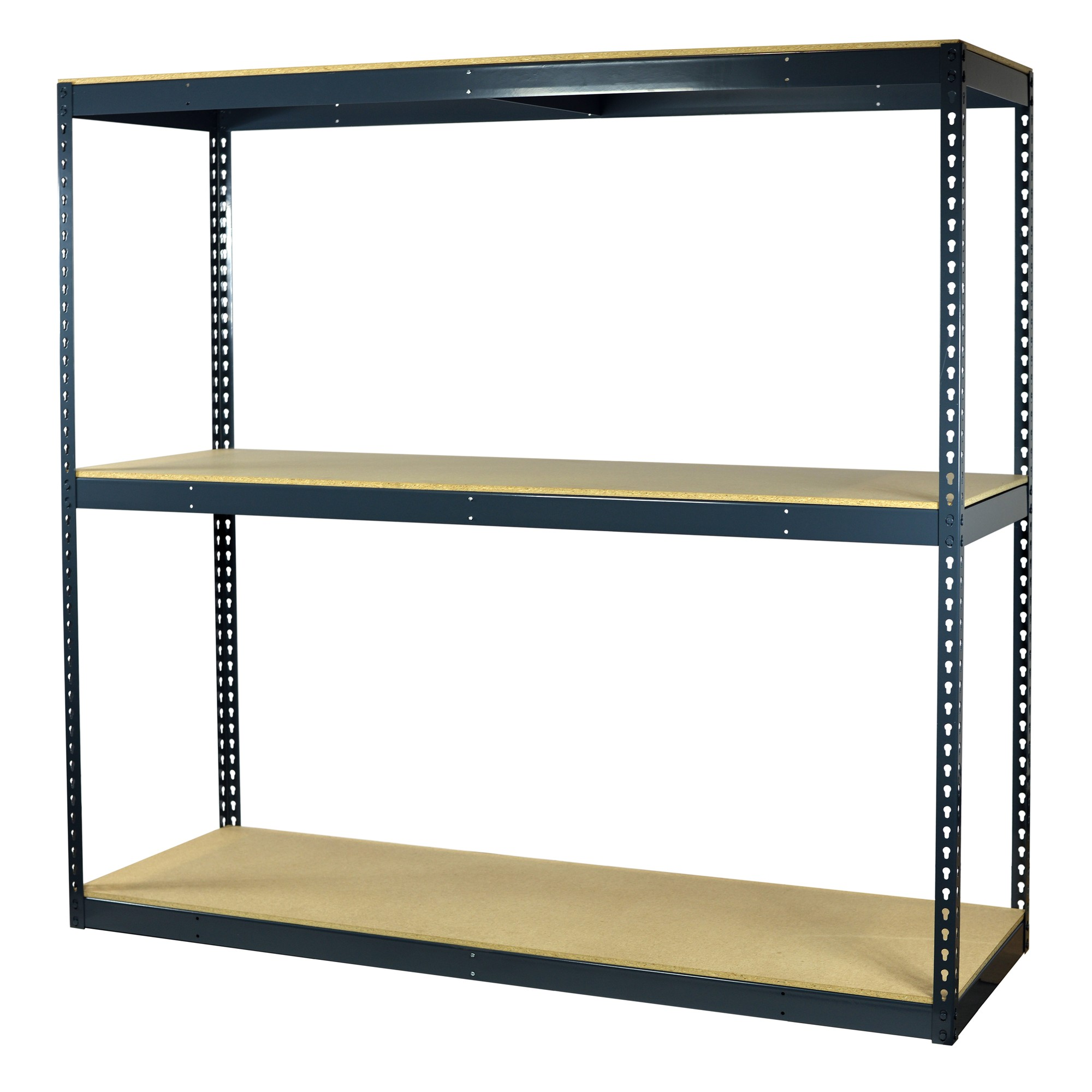 Storage Max Garage Shelving Boltless, 60 x 30 x 72, Heavy Duty, Double Rivet Beams, 3 Shelves
