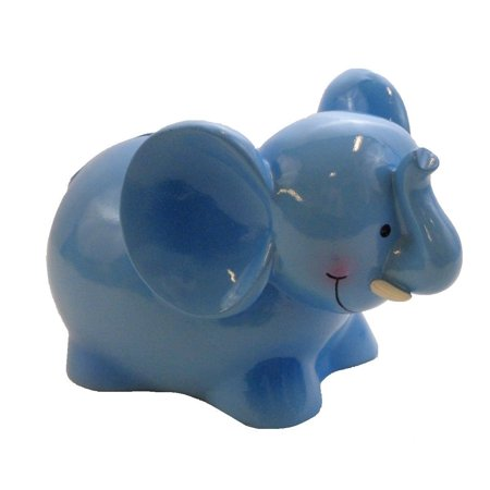 Blue Elephant Savings Piggy