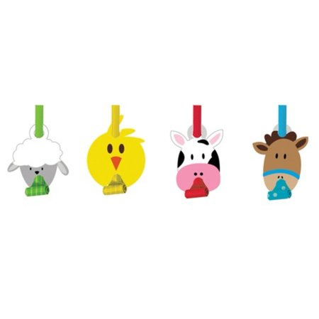 Party Blowouts (Club Pack of 96 Farmhouse Fun Farm Animal Blowout Party)